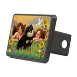 Angels / Pomeranian (b&t) Hitch Cover