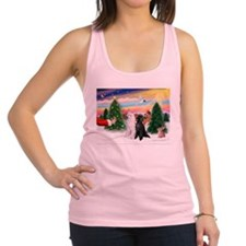Treat/Two Poodles (ST) Racerback Tank Top