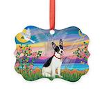 Guardian /Rat Terrier Picture Ornament