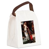 Cute Saint bernard Canvas Lunch Bag