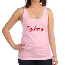 Zachery, Vintage Red Racerback Tank Top