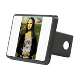 Mona & SHih Tzu (#17) Rectangular Hitch Cover