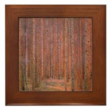 Fir Forest by Klimt Framed Tile