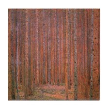 Fir Forest by Klimt Tile Coaster