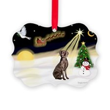 Night Flight/Weimaraner Ornament