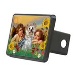 Angels with Yorkie Rectangular Hitch Cover
