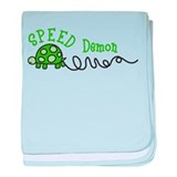 Speed Demon baby blanket