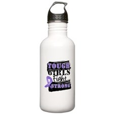 Tough Girls Hodgkin Disease Water Bottle