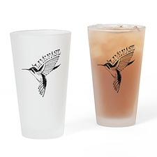 Hummingbird Live Fast Drinking Glass
