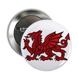 "Red Welsh Dragon 2.25"" Button (10 pack)"