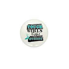 Tough Girls Cervical Cancer Mini Button (10 pack)