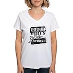 Tough Girls Carcinoid Cancer Women's V-Neck T-Shir