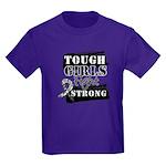 Tough Girls Carcinoid Cancer Kids Dark T-Shirt