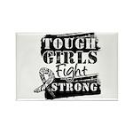 Tough Girls Carcinoid Cancer Rectangle Magnet (100