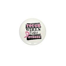 Tough Girls Breast Cancer Mini Button (10 pack)