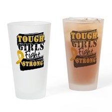 Tough Girls Appendix Cancer Drinking Glass