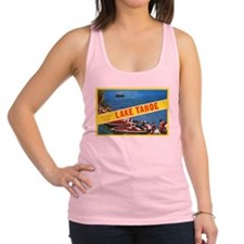 Lake Tahoe Greetings Racerback Tank Top
