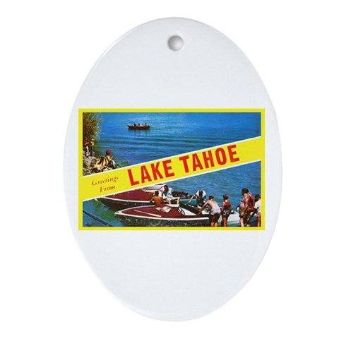 Lake Tahoe Greetings Ornament (Oval)