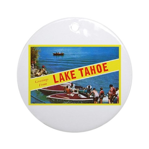 Lake Tahoe Greetings Ornament (Round)