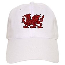 Red Welsh Dragon Cap