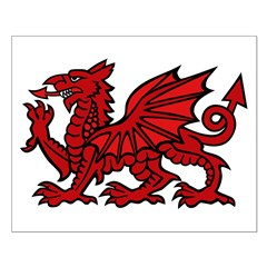 Red Welsh Dragon Small Poster