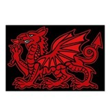 Red Welsh Dragon Postcards (Package of 8)