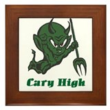 Cary High Green Imp Framed Tile