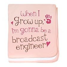 Future Broadcast Engineer baby blanket