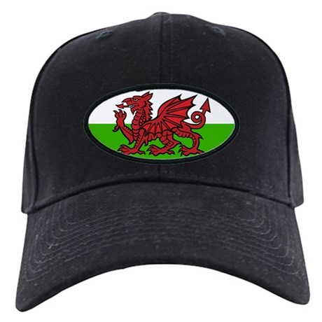 Welsh Flag Black Cap