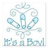 "Its A Boy Square Car Magnet 3"" x 3"""