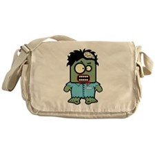 Cute Zombie Character Canvas Messenger Bag