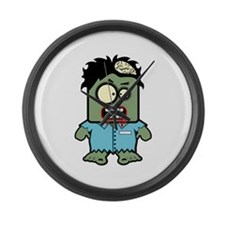 Cute Zombie Character Large Wall Clock