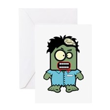 Cute Zombie Character Greeting Card