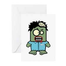 Cute Zombie Character Greeting Cards (10 pack)