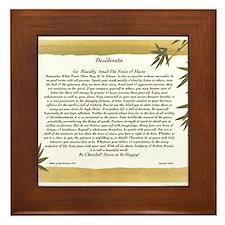 The Desiderata Poem by Max Ehrmann Framed Tile