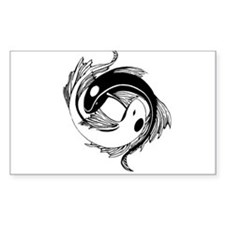 Tribal Yin Yang Fish Decal