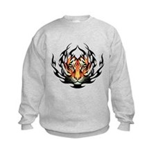 Tribal Flame Tiger Sweatshirt
