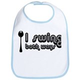 Spork, I Swing Both Ways Bib