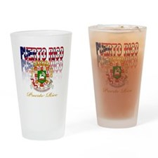 Puerto Rican pride Drinking Glass