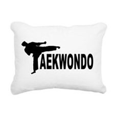 old tae kwon do(pink).png Rectangular Canvas Pillo