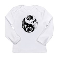 Tribal Skulls Yin Yang Long Sleeve Infant T-Shirt