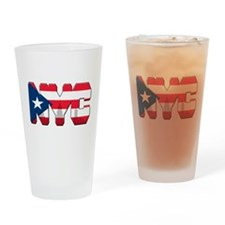 New York Puerto Rican Drinking Glass