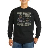 Seals Removed One Threat Long Sleeve T-Shirt
