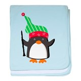 Christmas Music Penguin baby blanket