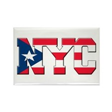 New York Puerto Rican Rectangle Magnet