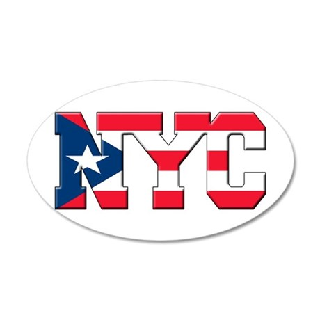 New York Puerto Rican 35x21 Oval Wall Decal