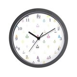 Designer Holiday Vuitton Wall Clock