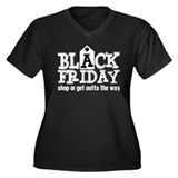 Black Friday Shop or Get Outta the Way Plus Size T