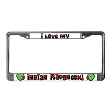Anime Indian Ringneck License Plate Frame