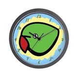 Anime Indian Ringneck Parakeet Clock